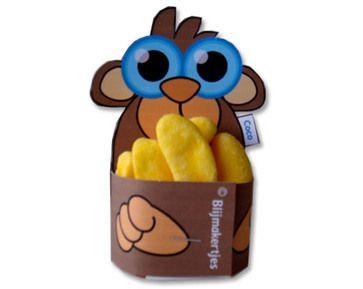 Kindertraktaties: Aap met banaantjes