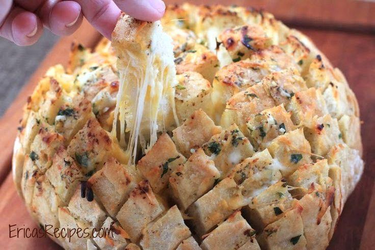 Cheesy-Stuffed Garlic Bread (aka Crack Bread)! from EricasRecipes.com