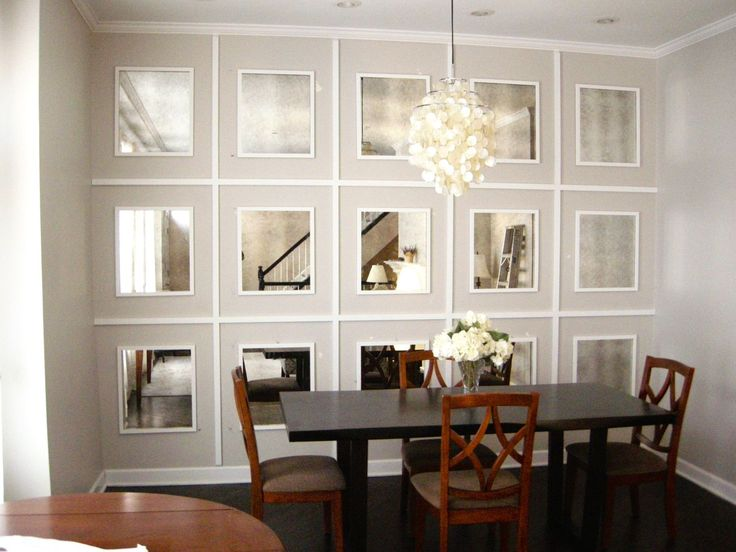 Mirrored Wall, Antiqued Mirrors | Mirror dining room ...