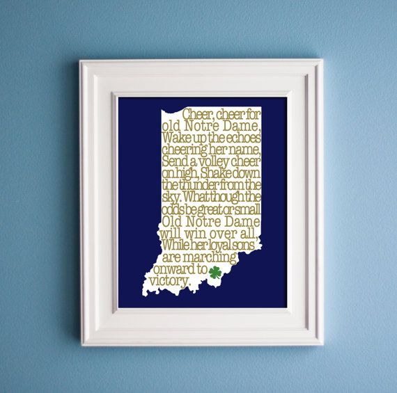 53 best indiana university images on pinterest indiana for Notre dame home decor