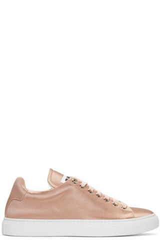 Pink satin trainers #nude #trainers #ad