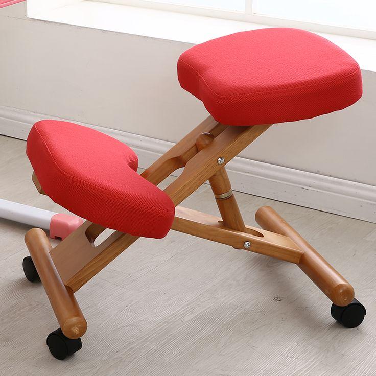 Ergonomique Genoux Chaise Avec Roulettes Tabouret Posture de Soutien De Bureau En Bois Meubles Ergonomique Chaise En Bois Équilibrage Body Back Pain