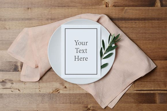 Blush and Olive Menu Mockup by The Ginger Snaps Co on @creativemarket