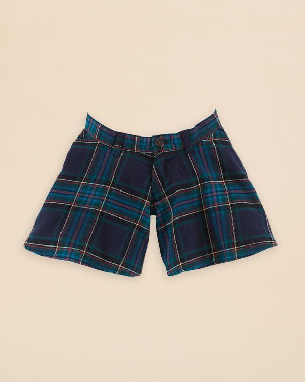 Ralph Lauren Girls' Twill Culotte Shorts - Sizes 2-6X