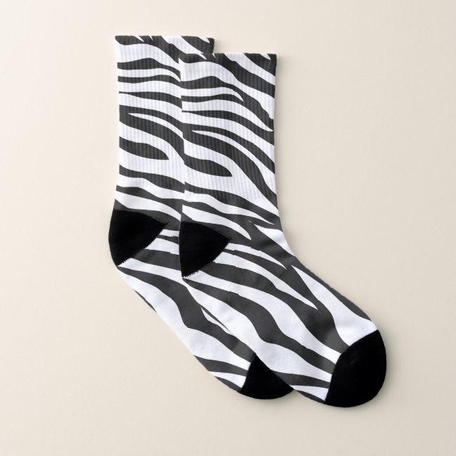 Zebra Safari Animal Pattern All Over Print Socks Zazzle Com Animal Pattern Safari Animals Stuffed Animal Patterns