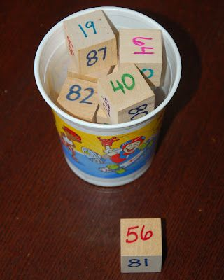 easy DIY number blocks for practice number order. Students can pull out four…
