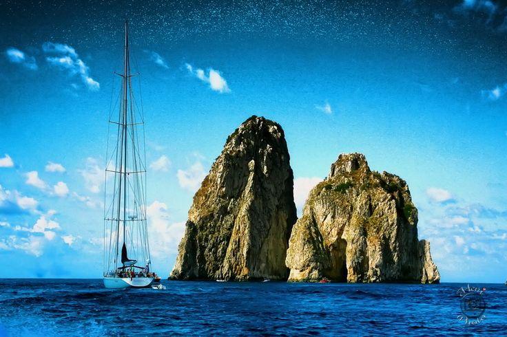 Capri. Faraglioni sziklák
