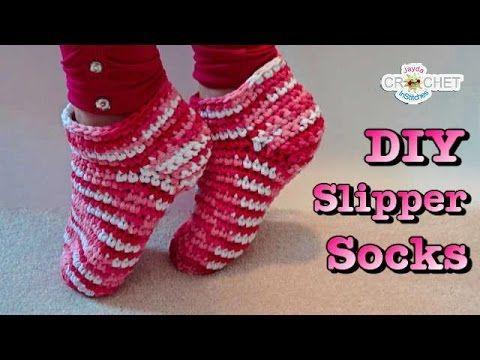 ♡ Easy Crochet Adult Slipper Socks ♡ - YouTube