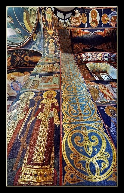 St. George church in Oplenac - Serbia  mosaic. by Katarina Stefanović  on flickr