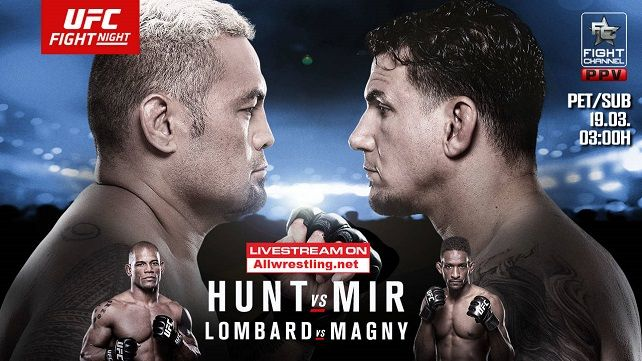 Watch UFC Fight Night 85: 3/19/2016 19th March 2016 (19/3/2016) Full Show Online Free Watch UFC Fight Night: Hunt vs Mir Live Stream and Full Show Online Free Watch Online (Livestream Links) *720p*