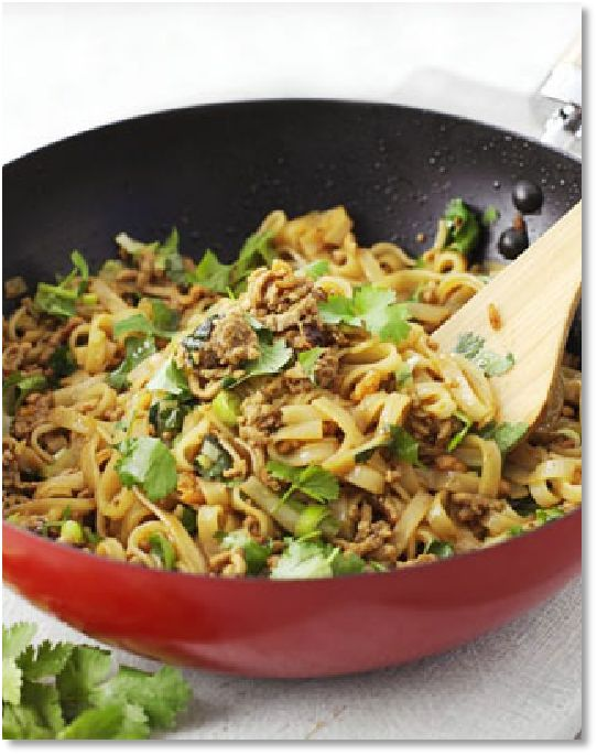 New Low FODMAP Recipes - Minced pork with rice noodles http://www.ibssano.com/low_fodmap_recipes_minced_pork_rice_noodles.html