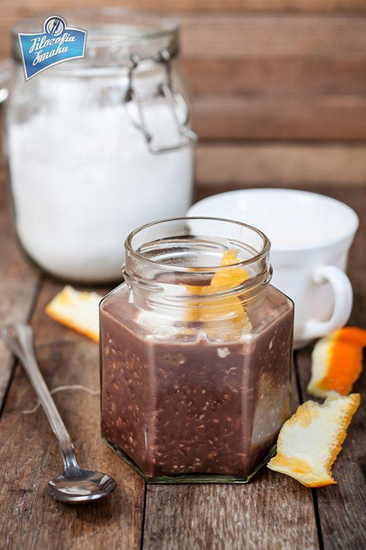 nocna owsianka kawowo-czekoladowa
