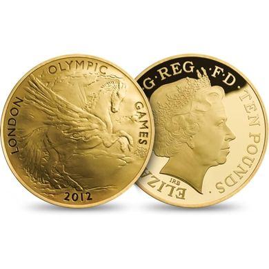 The UK's first ever Ten pound denomination and the first ever five-ounce gold coin. Maximum Coin Mintage of just 500. Designed by RA President Christopher Le Brun. Struck to Proof standard in .999 fine gold.