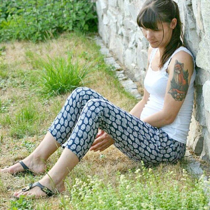 «Le pantalon #velara en #HaloBlue par @zwirnguin»