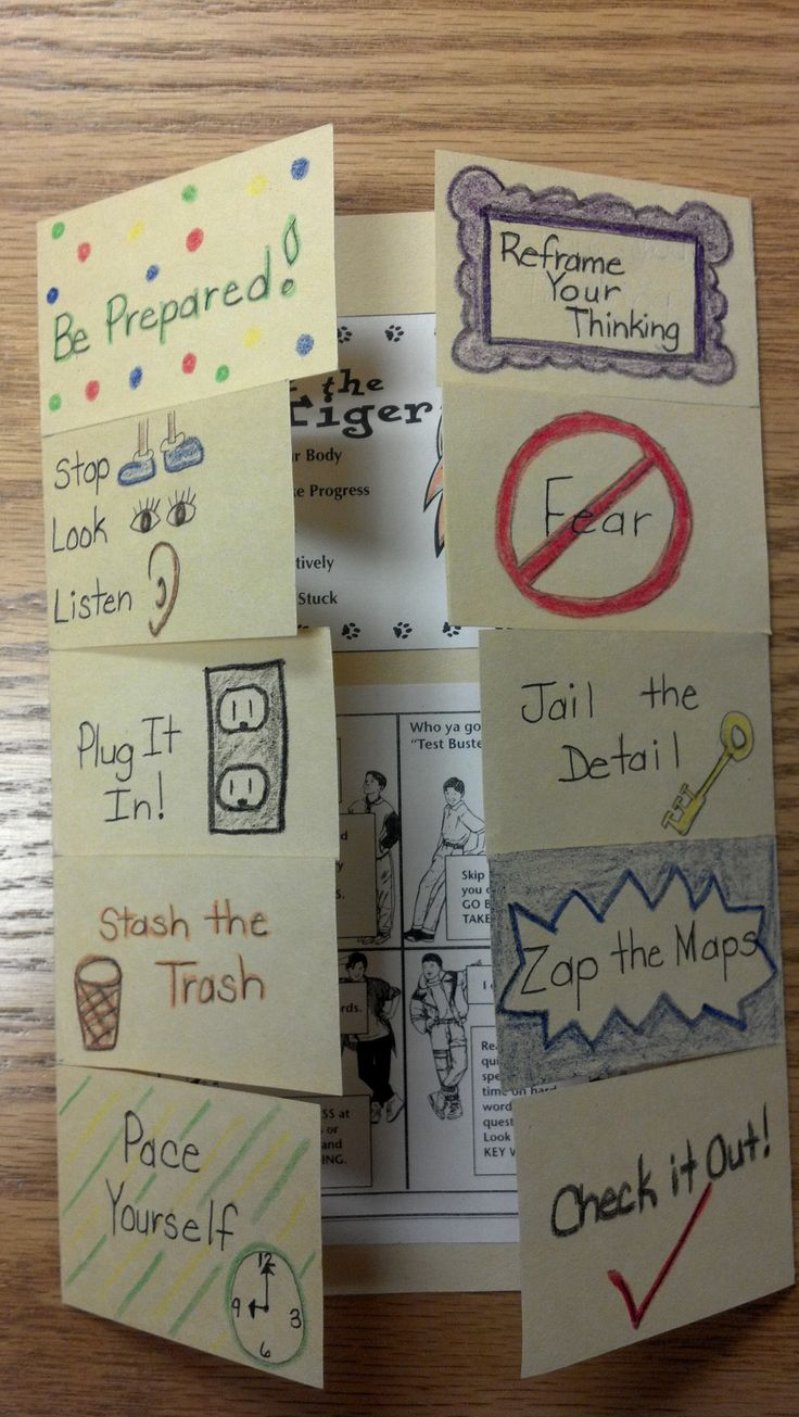 Test taking foldable along with how to use it and tips for students