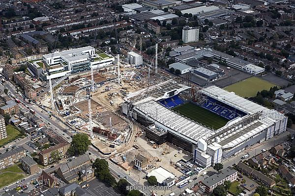 LONDON,UNITED KINGDOM - JULY 21: Aerial Views of the White Hart Lane Stadium Development at White Hart Lane on July 21, 2016 in London, England. (Photo by Tottenham Hotspur FC via Getty Images)