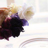 フラワーピアス・イヤリングHydrangea ハイドランジア(紫陽花)*SMカラーの画像
