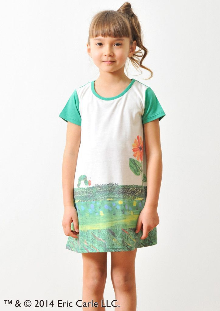 Eric Carle Round Neck Short Sleeve One-Piece(Flower and the Very Hungr – Design Tshirts Store graniph
