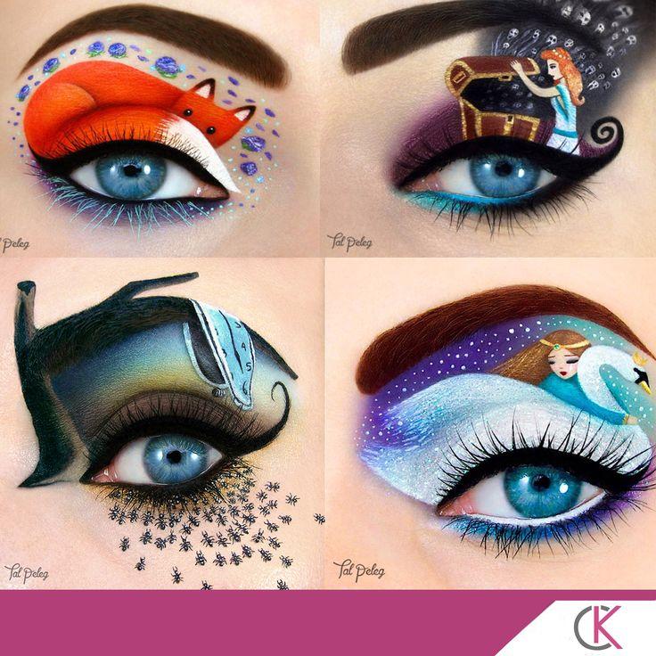 Göz makyajı değil sanat harikası! Tal Peleg adlı makyöz harikalar yaratıyor. #makyaj #sanat #gözmakyajı