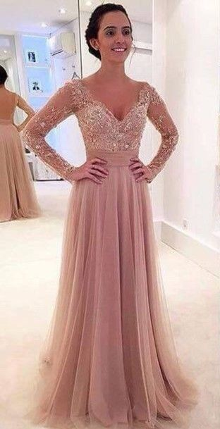 DIYouth Long Sleeves Prom Dresses with Detachable Skirt Two Pieces Lace Beaded Short Long Pink Evening Gowns,prom dresses 2016✦