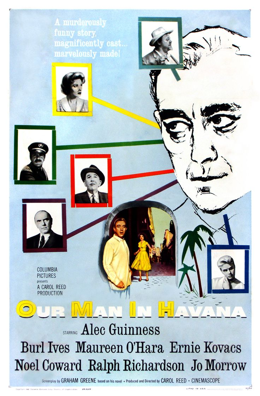 A Year of Spy Films 242/365 Our Man in Havana (1959 United Kingdom)  The International Spy Film Guide Score: 8/10  #isfg #spyfilmguide #grahamgreene #carolreed #alecguinness #cuba #spymovie #spyfilm https://www.kisskisskillkillarchive.com