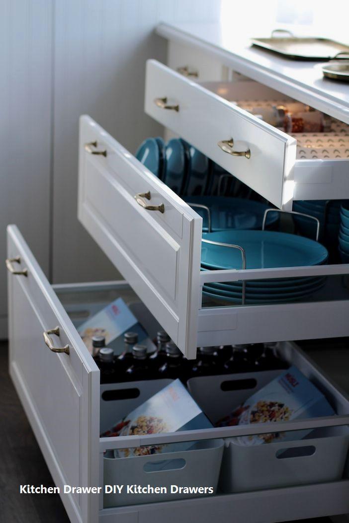 15 incredible kitchen drawer diys 1 three layer drawers home rh pinterest com