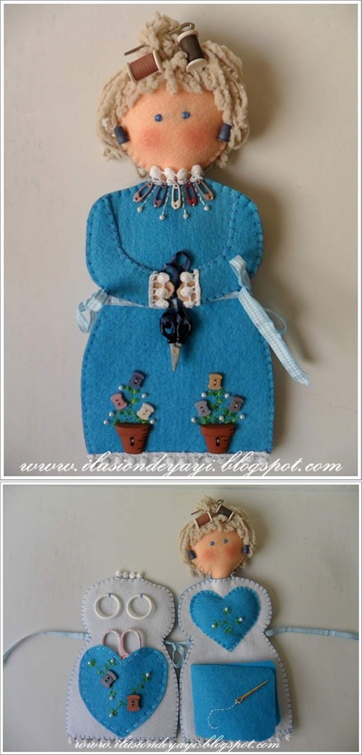 TUTORIAL: Muñeca - Costurero. Sewing Doll