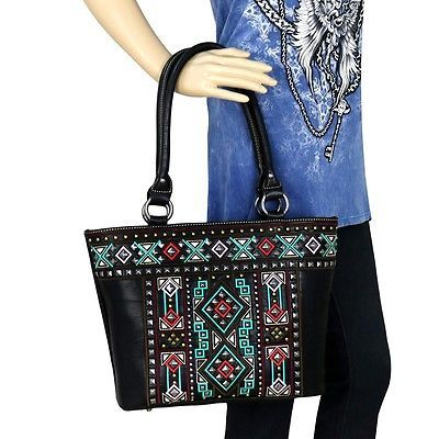 Montana West Aztec Collection Concealed Handgun Tote Bag