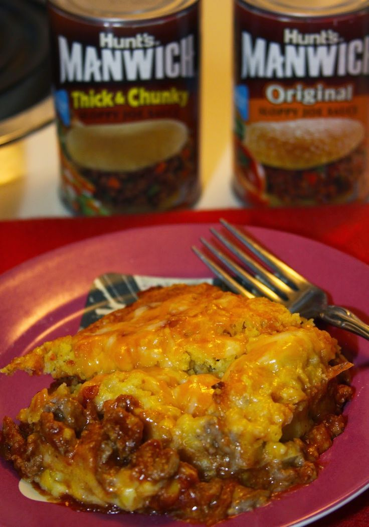 For the Love of Food: Manwich Turkey Sloppy Joe and Cheesy Cornbread Casserole and a Giveaway!