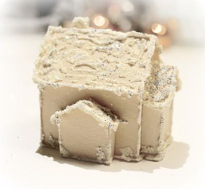 Mitt Lille Papirverksted: Step by Step - Mini Christmas 3D House