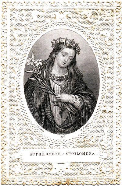 Saint Philomena Holy Card