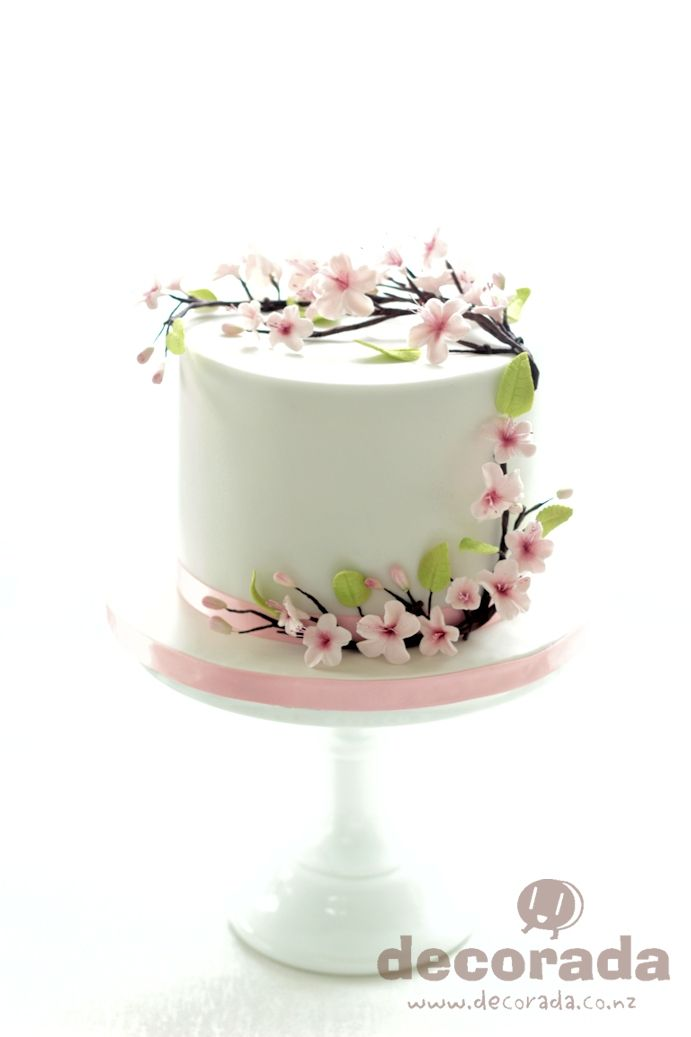De 25 Bedste Id 233 Er Inden For Cherry Blossom Cake P 229