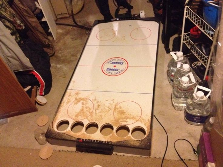 Remember That Sweet Air Hockey Beer Pong Table Here S How To Diy The Roosevelts Hockey