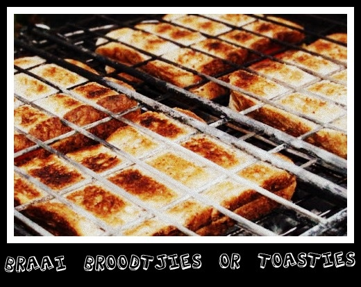 The South African Braai - Toasted bread on the braai ... delicious