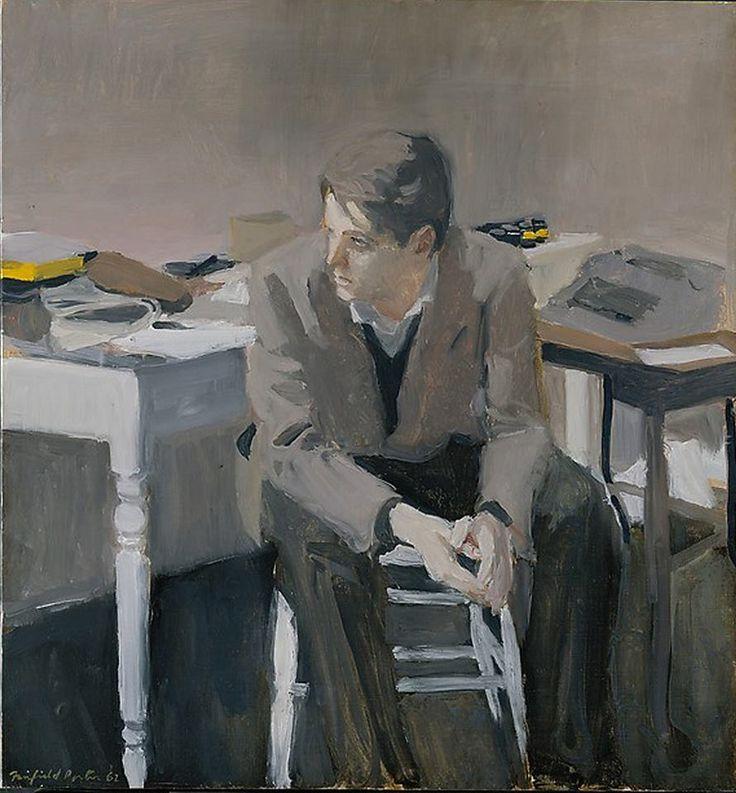 Portrait of Don Schrader / Fairfield Porter, 1962