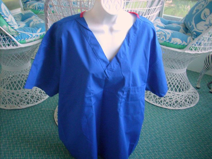 Dickies Medical Nursing Hospital Uniform Scrub Top Unisex Size XL  Blue NEW-NWT #Dickies