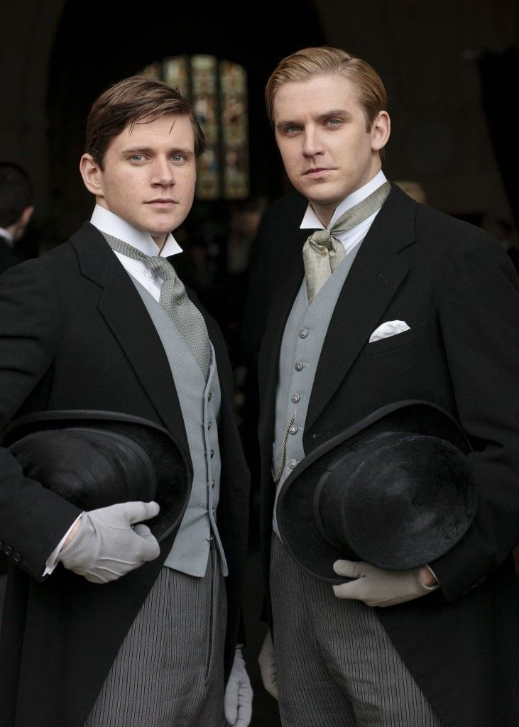 Downton Abbey wedding - Groom and Best Man