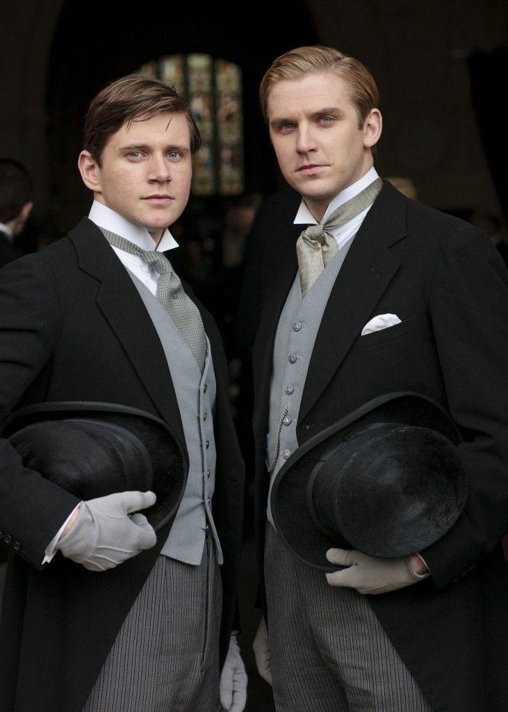 Downton Abbey wedding - Groom and Best Man