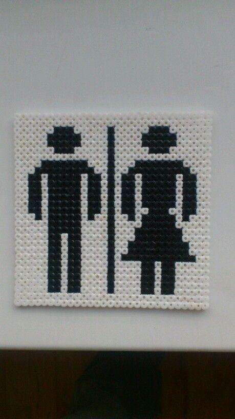 HAMA Perler Toilet Sign