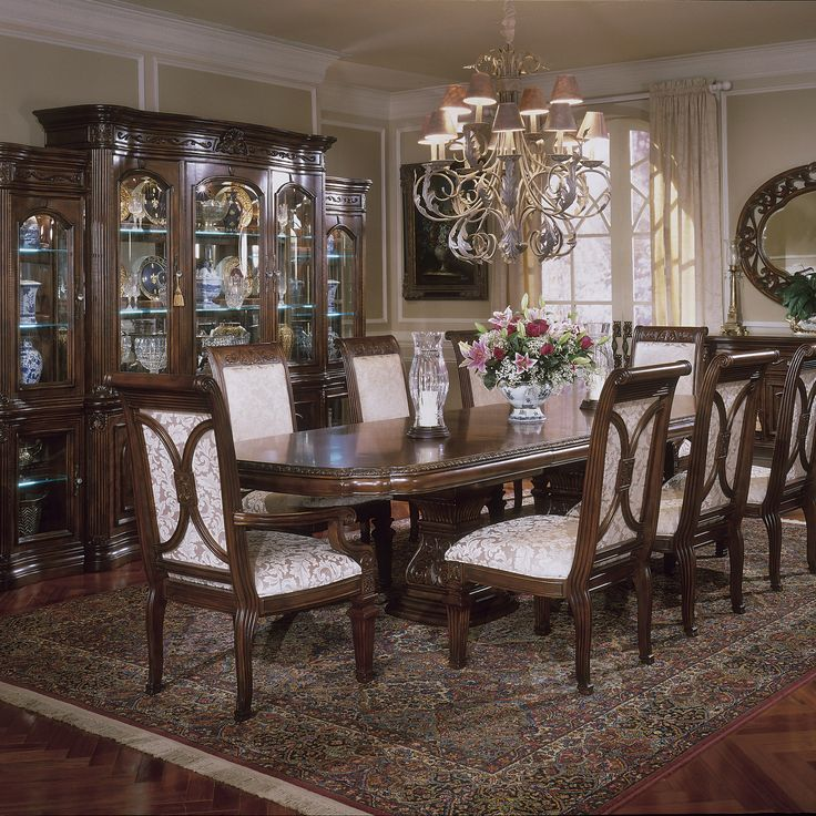 Aico Dining Room Sets: Villagio Dining Room Set With Rectangular Table, Is Manufactured By AICO / Michael Amini