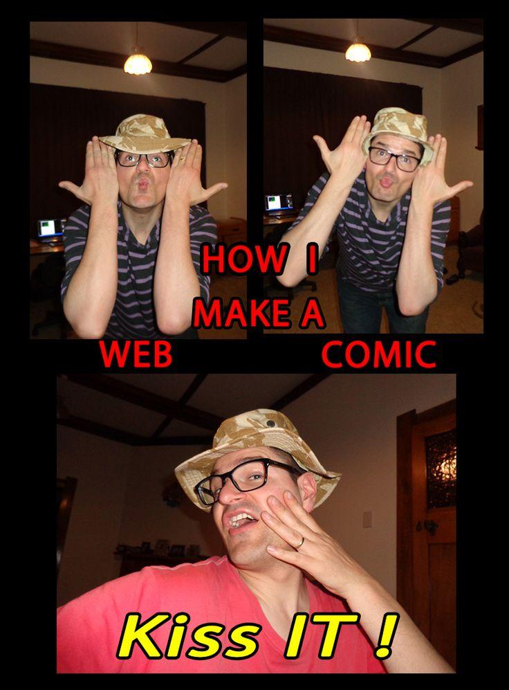 How I make a web comic ... kiss it
