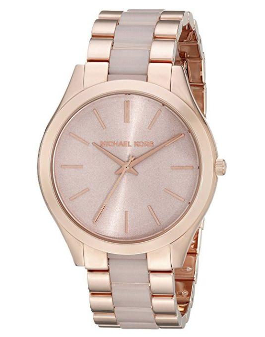 1f80c7e17208 Michael Kors Slim Runway MK4294 Rose Gold Blush Acetate Ladies Watch ...