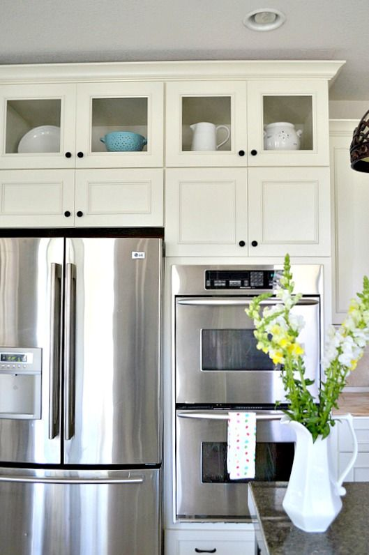 How to add glass inserts into your kitchen cabinets ...