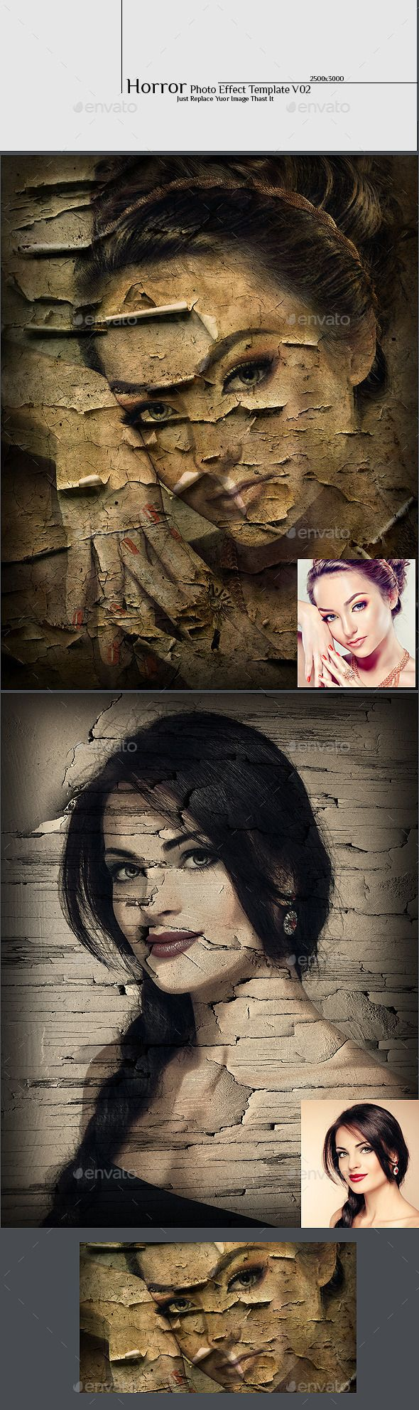 61 best top photoshop editing images on pinterest photo horror photo effect template v02 baditri Gallery