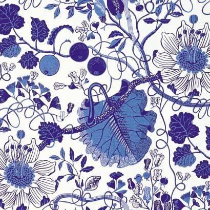 La Plata [linen fabric] by Josef Frank produced by Svenskt Tenn