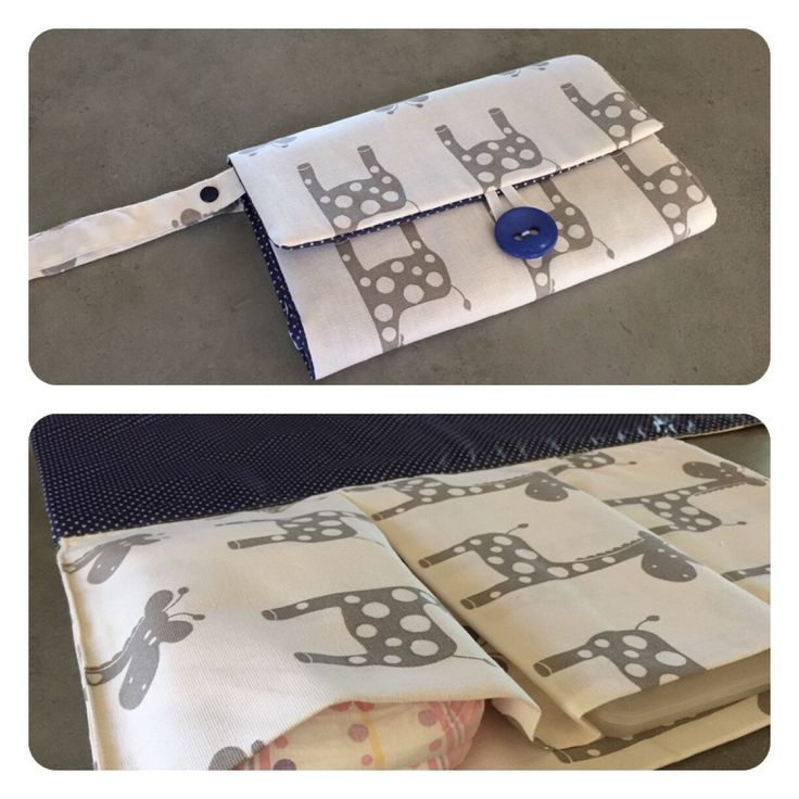 Nappy wallet with attached change mat by schwuppdiwupp on Etsy https://www.etsy.com/listing/234492622/nappy-wallet-with-attached-change-mat