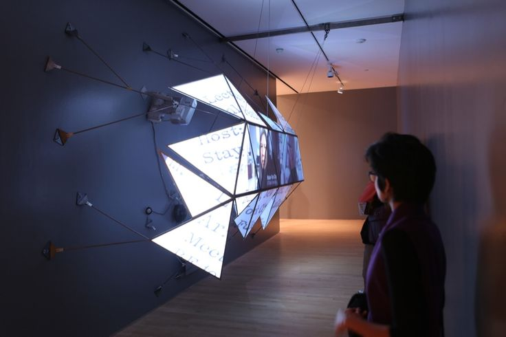 cool MOMA exhibit using mapped projection