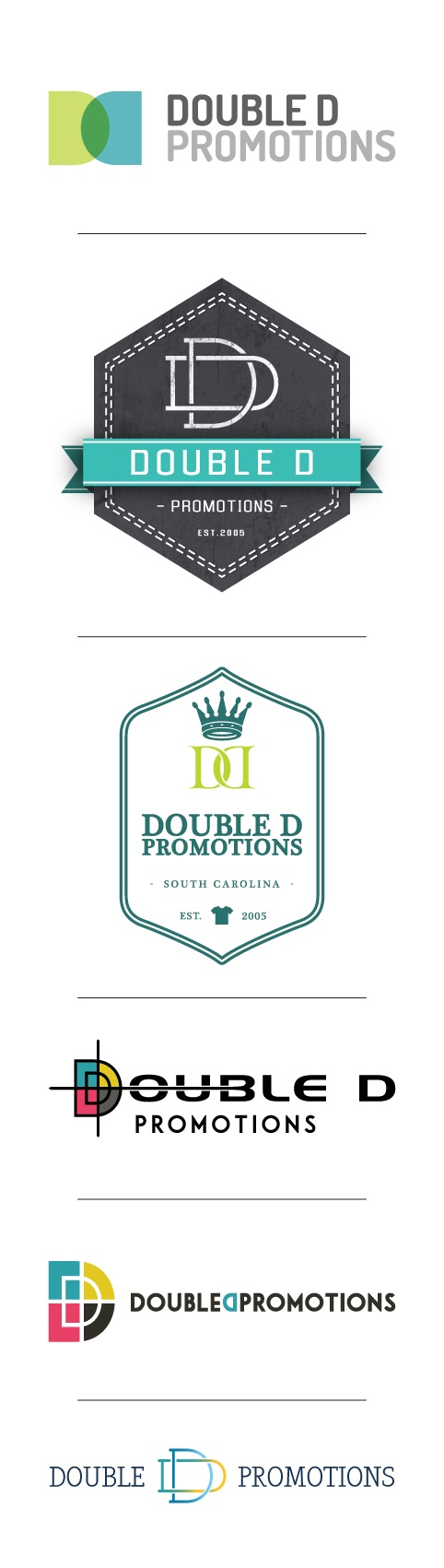 Double D Promotions - DesAutels Designs | logo development process