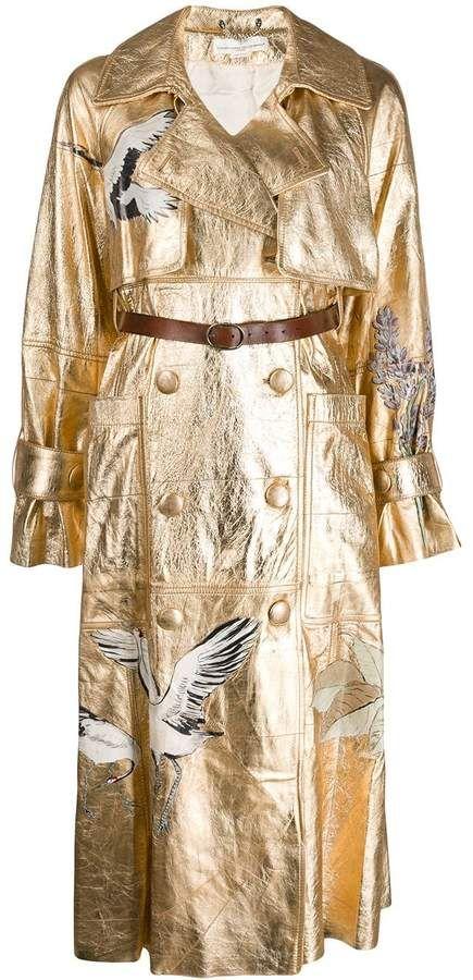 Golden Goose Embossed Double Buttoned Coat