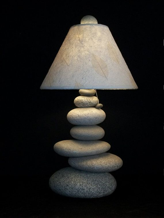 Maine Stacked Stone  Balance Rock Lamp by mainerockguy on Etsy, $2500.00